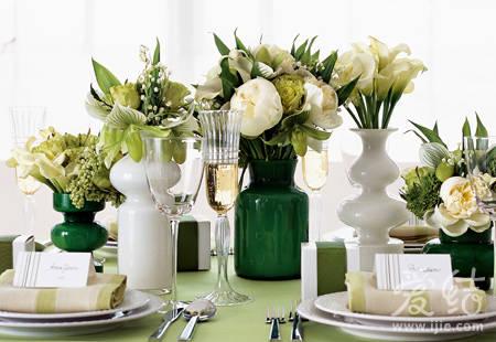 创意桌饰打造色香味婚宴