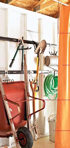 独立的园艺工具收纳空间设计