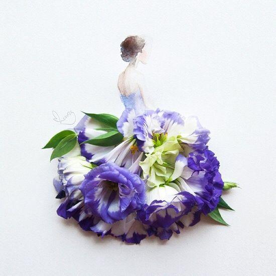 紫罗兰花瓣贴画