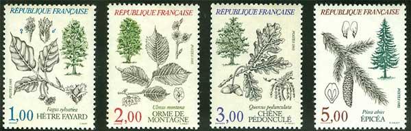法国花卉邮票欣赏