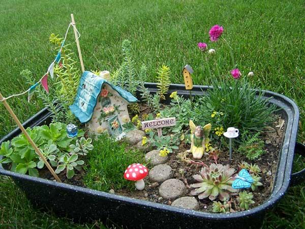 充满创意的微型景观 超可爱的迷你花园