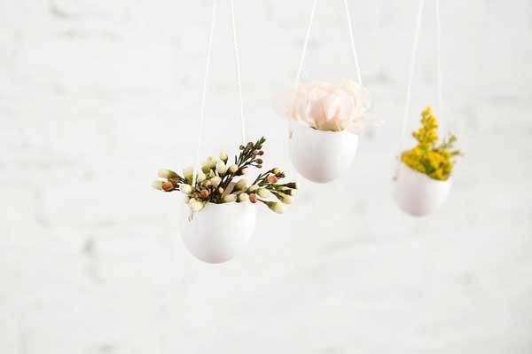 迎接春天盛开的花朵 DIY鸡蛋壳花器