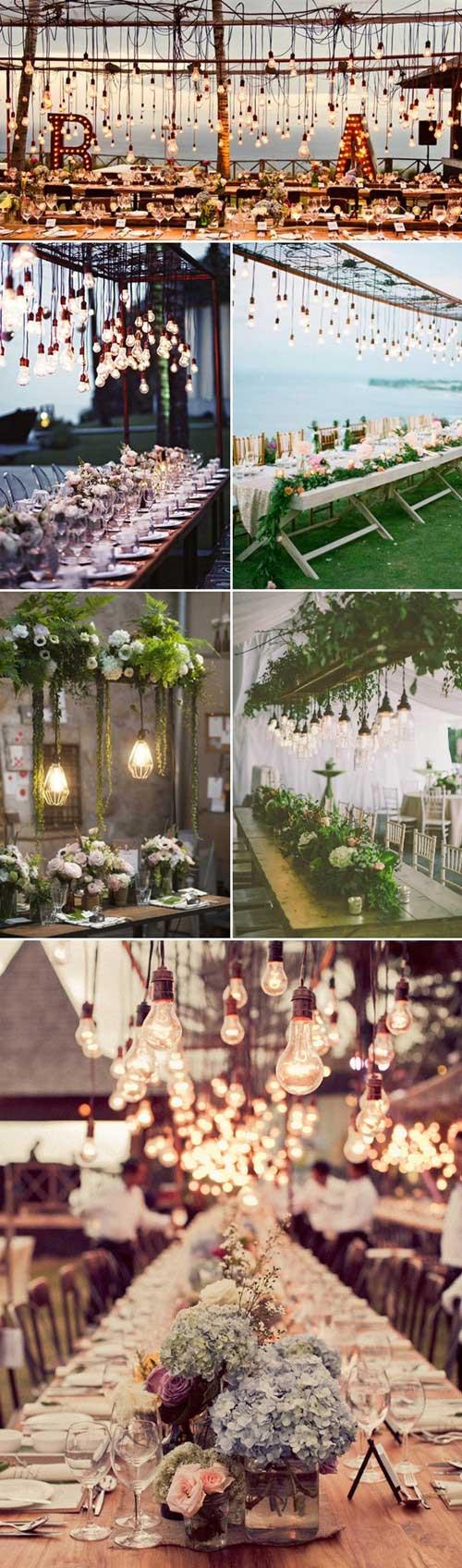 美丽浪漫的创意 27款悬吊式婚礼桌花