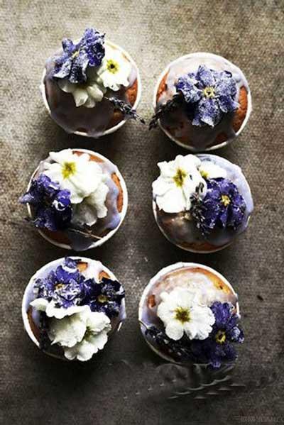 把鲜花变成食物 赏心悦目的花朵美食