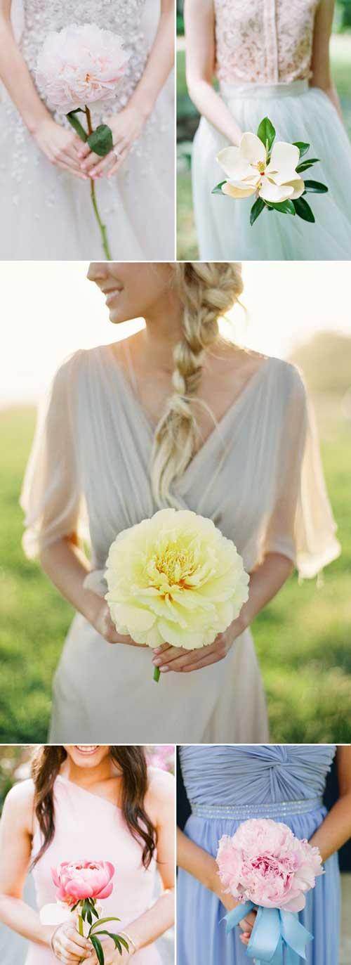 婚礼最靓配角 清新浪漫的伴娘手捧花设计