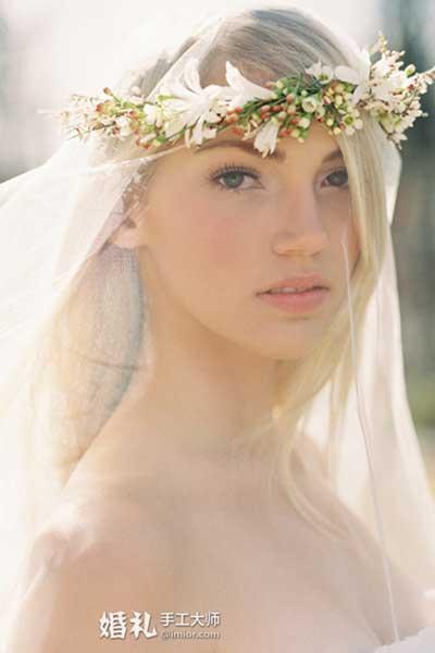 百子莲的盛放 新娘花冠DIY制作步骤
