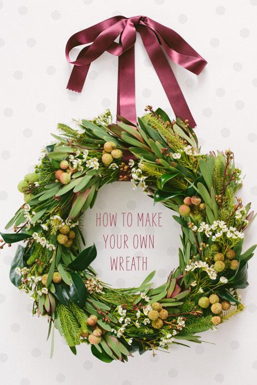 浓浓的圣诞感觉 DIY手工制作圣诞装饰花环