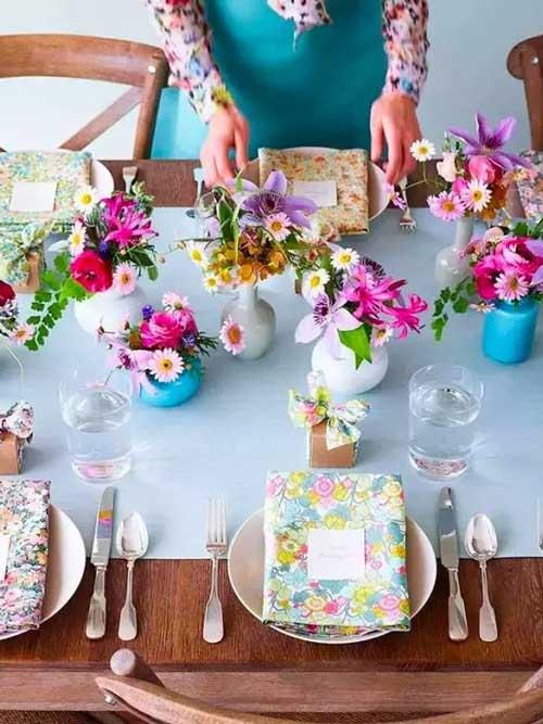 最全、最美的餐桌花摆放全集